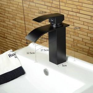 Nickel Brush Waterfall Bathroom Basin faucet basin mixer tap chromed brass Hot Cold Mixer Faucet chrome/brush/black