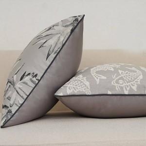 Noble Jacquard Cushion Cover Top Luxury Pillow Cover Grey Fish Breathable Ramadan Decoration Housse De Coussin De Salon