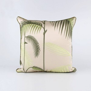 Noble Luxury Classical Plants Sofa Cushion Cover Living Room Bamboo Embroidery Wedding Decor Pillowcase Car almofadas cojines