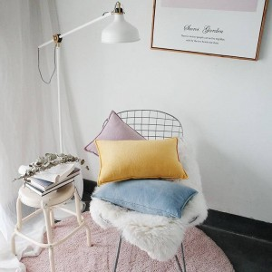 Noble Velet Printed Cushion Cover Designer Luxury Decorative Pillows Case Almofadas Cojines Sofa Solid Blue Yellow Car Covers