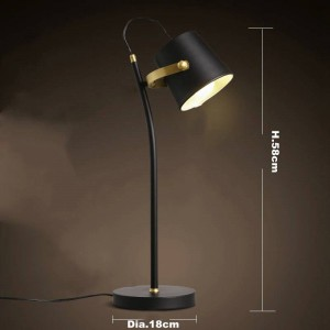 Nordic Brief modern table lamp Creative desk light Iron art black E27 led lamp study bedroom lighting fixture home Reading lamp