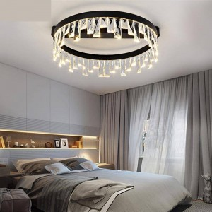 Nordic Crystal Light Led Modern Circular ceiling light Dining Room Bedroom Ceiling Lamps And Lanterns Lighting Fixture