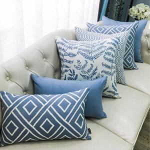 Nordic Cushion Cover Cojines Decorativos Para Sofa Christmas Luxury Pillow Cover Geometric Leaves Throw Pillows Home Festival