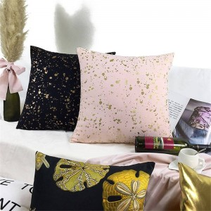 Nordic Digital Bronzing Cushion Cover Luxury Gold Cojines Decorativos Para Sofa Christmas Car Cover Rabbit Home Throw Pillows