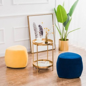 Nordic Fabric Stool Living Room Sofa Stool Footstool Creative Makeup Stool Small Bench Home Change Shoes Round Stool