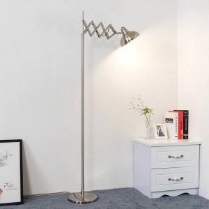 Nordic Floor Lamps unfoldable floor Lights spider arm metal lampshade Lights Fixture black color E27 bulb standing lamp