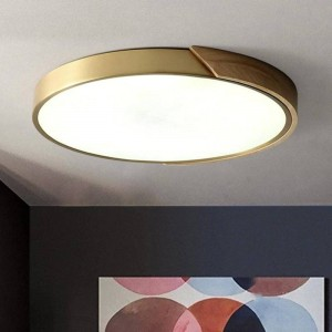 Nordic Lamparas LED Ceiling Lamp for Bedroom Modern Simple Copper Wood Living Room Hanging Lights Home Decoration Hanglamp