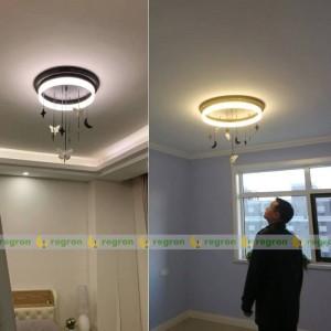 Nordic LED ceiling lamp AC85-265V modern creative Angel moon children room Round ceiling Light bedroom decoration lights