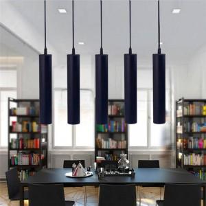 Nordic Led LOFT Pendant Lamp Aluminum Balck White Kitchen COB Cylinder Pipe Pendant Light Lighting Hanging Lamp Kitchen Fixtures