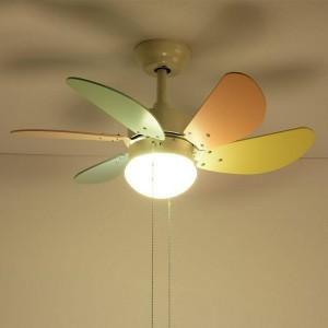 Nordic Macaron LED Fan Chandelier light simple Living Room Restaurant Spiral Fan Lamp Coffee Shop Light kids room
