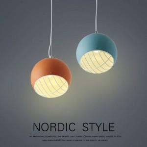 Nordic pendant lights ball modern minimalist European bedroom living room study aisle restaurant droplight personal LED lighting