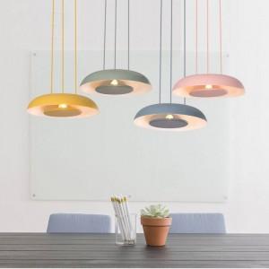 Nordic pendant lights modern minimalist European bedroom living room study restaurant droplight personal LED lighting fixture