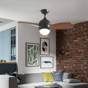 Nordic restaurant pendant ceiling fan light industrial style creative modern macarons LED fan light for living room bedroom