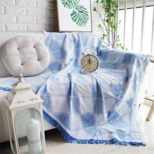 Nordic Romantic Geometry Throw Blanket Sofa Decorative Slipcover Colorful Cobertor Sofa/Beds Plaid Non-slip Stitching Blankets