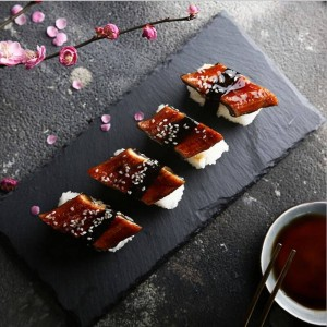 Nordic Stone Black Table Storage Plate Minimalist Chic Modern Fruit Food Office Desk Storage Organizer Decorative