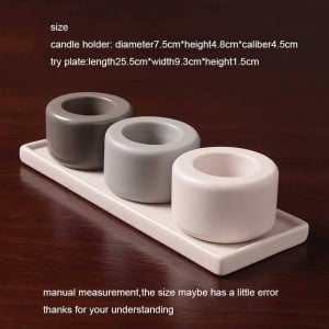 Nordic Style Candlestick Ceramic Candle Holder Romantic Candlelight Dinner Cafe Candles Night Light Decoration Crafts Adornment