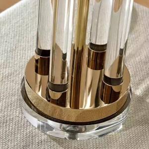 Nordic table Lamp Post Modern crystal Kung desk light Luxury Simple Copper Plated desk lamp Room Bedroom Bedside Design art deco