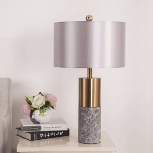 Nordic table Lamp Post Modern White Marble Luxury Simple Copper Plated desk lamp Room Bedroom Bedside Design art decoration