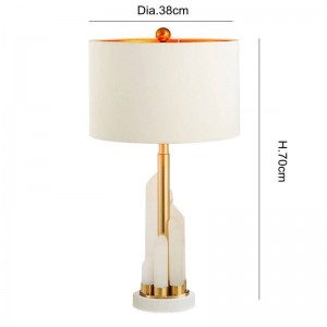 Nordic table Lamp Post Modern White Marble Luxury Simple gold metal Plated desk lamp Room Bedroom Bedside Design art decoration