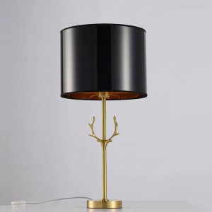 Nordic Table Lamps Antler model design Reading Study Light Bedside Lights cloth Lampshade Home Lighting all copper table light