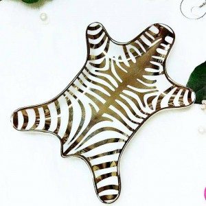 Nordic tiger skin pattern ceramic ring necklace snack storage tray creative cosmetics desktop storage decorative ornaments
