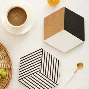Nordic Wood Table Storage Tray Chic Scandinavian Insulation Pads Vogue Elegant Luxury Office Desk Storage Plate Organizer Decor