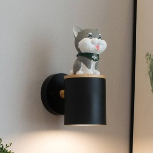 Novelty dog kid's lighting Kid's Bedroom Wall Light children lamp Puppy wall sconces Living Room Children Room dog wall Lamps