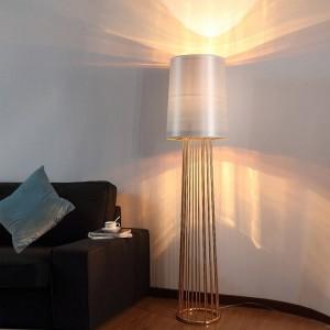 Original Art post modern Floor Light black white shade gold holder luxury modern led floor lamp art living room office bedroom