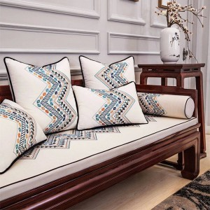 Original Design Cushion Cover Exquisite 3D Embroidery Geometric Pillow Chair Cover Luxury Cushions Cojines Decorativos Para Sofa
