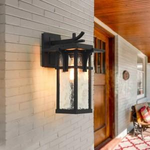 Outdoor Balcony Waterproof Induction Wall Lamp wall lights for home Courtyard Garden Villa Lamp Rural Antique Aluminum Lamp