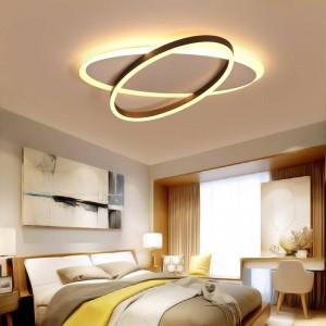 Oval-shaped chandelier design for white coffee room with modern lamp lights LED lighting lamp AC85-260V dero