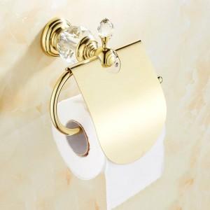 Paper Holder Gold Toilet Paper Roll WC Porte Papier Toilette Wall Mounted Bathroom Paper Holder Papier Toilette Support HK-40