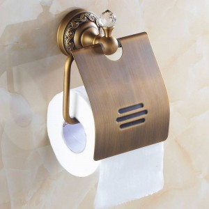 Paper Holders Solid Brass Antique Bronze Towel Paper Roll Holder Paper Rack Wall Bathroom Accessories Paper Tissue Holder 3708F
