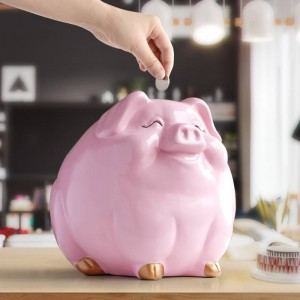 Pig money box for children gift resin animal statue case coin bank box creative fun pig money boxes for kids cute piggy banks