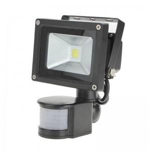PIR 10W LED flood lamp AC110V 220V input waterproof spotlight For Solar system garage security Motion Sensor Time Lux adjustable