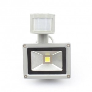 PIR 10W LED floodlight DC/AC12V input IP65 spotlight For Solar system garage security Motion Sensor Time Lux adjustable