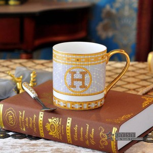 Porcelain coffee mug tea cup bone the god horses design outline in gold ceramic tea cup cafe mug milk cup the right mugs