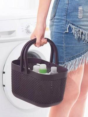 Portable bath basket bath basket desktop storage basket multi-purpose plastic basket
