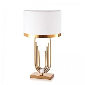 Post modern fashion simple table lamp metal lamp body cloth lampshade table light designer study bedroom reading lamp E27 holder