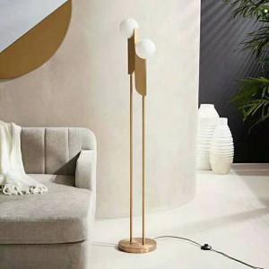 Post Modern Floor Light lamp GOLD metal lamp body frosted glass lampshade foyer bedroom Creative Nightstand lamp floor light