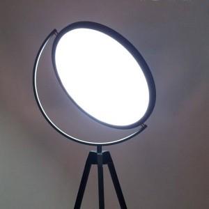 Post Modern Floor Light lamp tripod base acrylic lampshade metal foyer bedroom Creative Nightstand lamp black white floor light