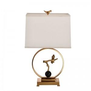 Post modern new Iron art bird table lamp white cloth art shade metal body creative study lounge bedroom led reading lamp