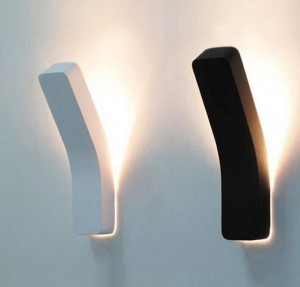 Post modern projection wall lamp black white simple creative bedside decoration light living room corridor wall light