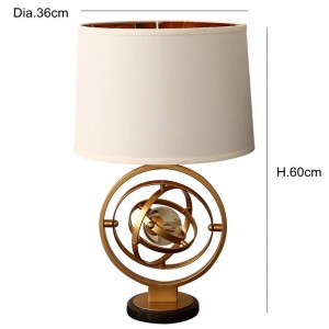 Post Modern simple personality creative crystal table lamp foyer bedroom north stylist model room gold Iron art LED reading lamp