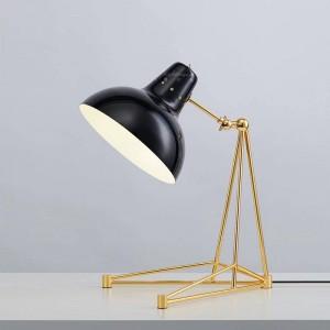 Post modern Simple Triangular metal horn design modeling Desk lamps Black white red foyer bedroom table light study reading lamp