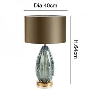 Post Modern table lamp Kung home decoration azure stone secene E27 Table lamp sitting room bedroom lighting desk light