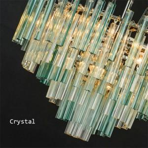 Postmoden Crystal LED Pendant Lamp Living Room Lustres Decoration Tiffany Pendant Lamp Home Lighting Indoor Decor Hanging Lamp
