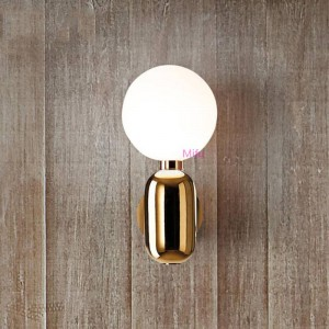 Postmodern Minimalist Wall Lamps Nordic Style Living Room Bedroom Wall Light Personality Creative Glass Ball Bedside Wall Lamps