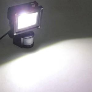 Promotion 4PCS/lot PIR 10W LED flood light waterproof spotlight garage security Motion Sensor Time Lux adjustable AC85V-240V in
