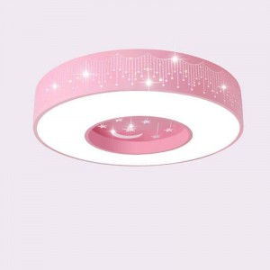 Promotion macaron ceiling light round colors iron lamp body acrylic lampshade foyer kids room ceiling lamp LED lighting fixture